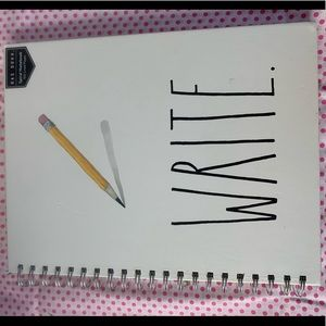NWT Rae Dunn WRITE Spiral Notebook - Lg Size